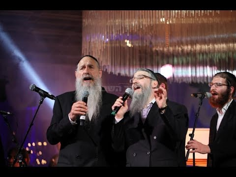 Mordechai Ben David & Avraham Fried at Wedding in Israel