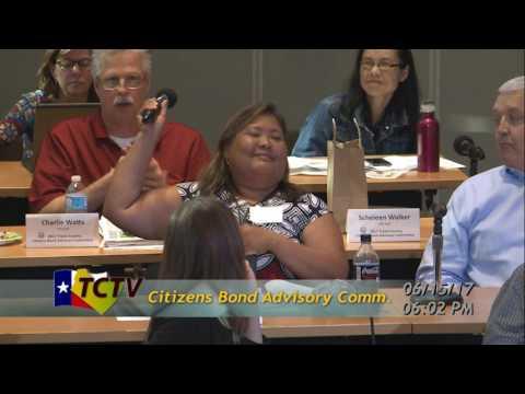 Citizens Bond Advisory Committee Meeting  06/15/17