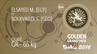 Qual. GR - 66 kg: S. BOLKVADZE (GEO) df. M. ELSAYED (EGY), 6-2