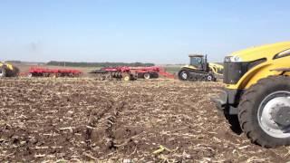 Challenger tractors pulling tillage