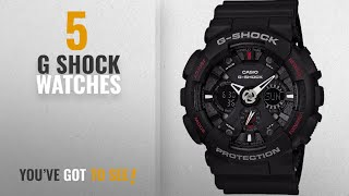 Top 10 G Shock Watches [2018]: Casio G-Shock Analog-Digital Black Dial Men's Watch - GA-120-1ADR