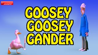 Goosey Goosey Gander - Nursery Rhymes 3D Animated