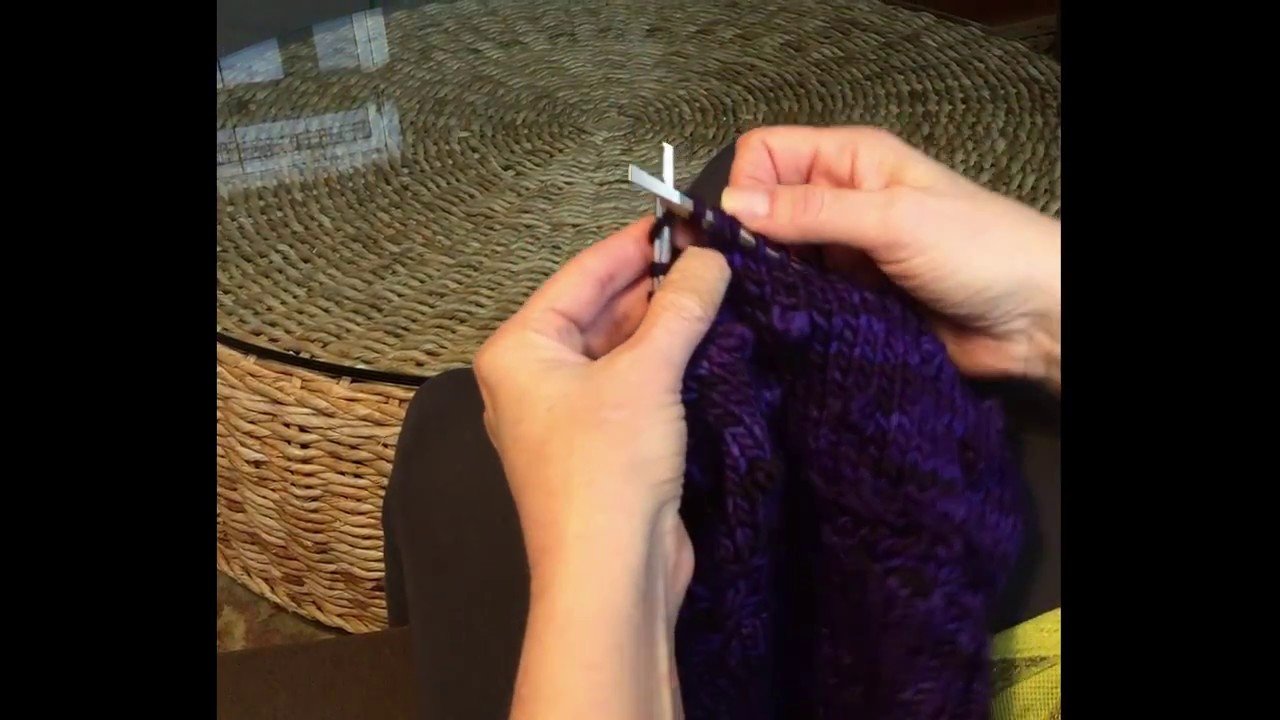 Knit Bobble Stitch In The Round : Knitting a four stitch (K1P1K1P1) bobble in-the-round - YouTube