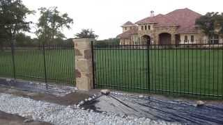 Oak Tree Fence Special Custom Automatic Iron Gate