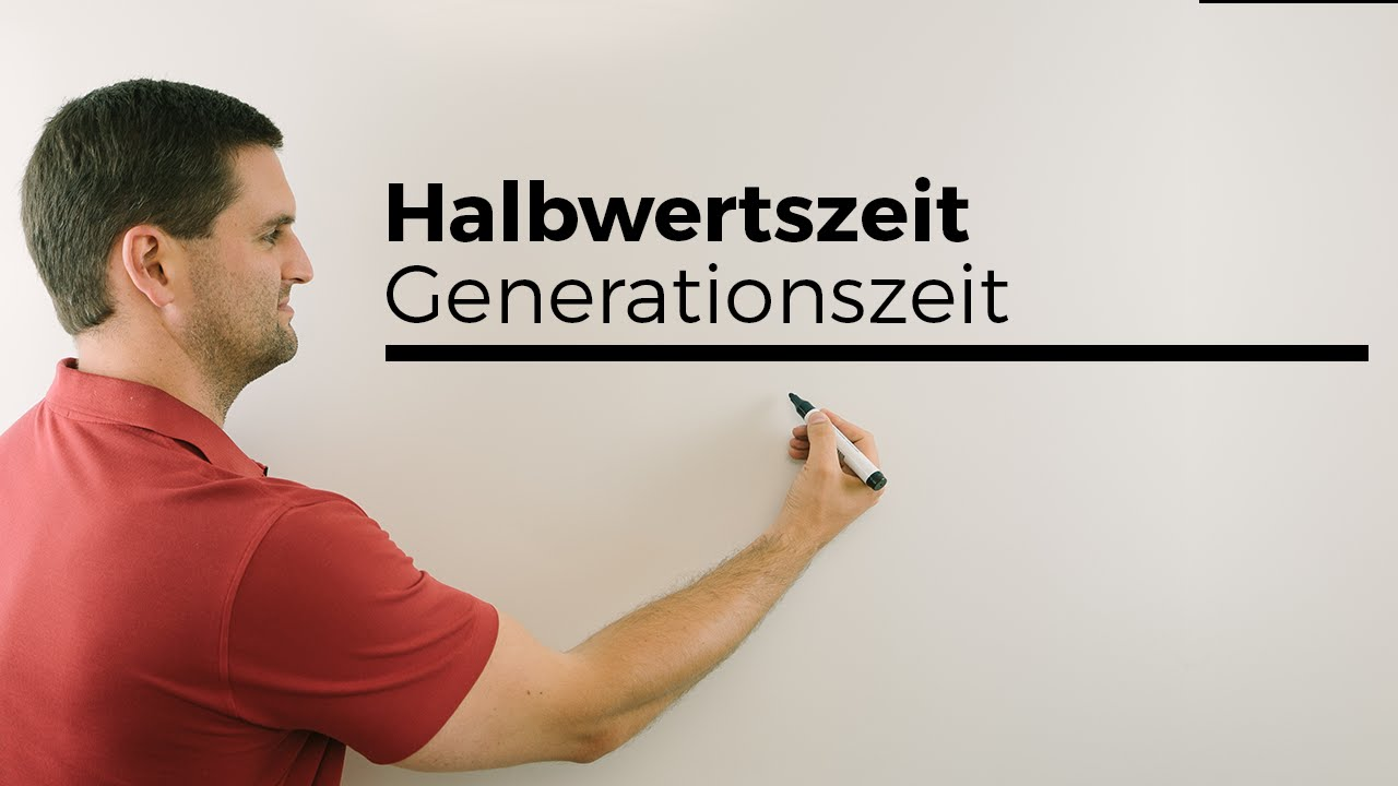 generationszeit halbwertszeit exponentialfunktionen mathe by daniel jung youtube. Black Bedroom Furniture Sets. Home Design Ideas