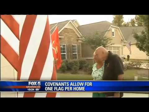 MARINE CORPS VETERAN LOSES BATTLE TO DISPLAY TWO FLAGS OUTSIDE OF HIS RETIREMENT HOME