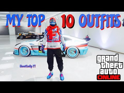 ★☆(GTA 5 ONLINE) MY TOP 10 COOLEST OUTFITS!👕 (male)★☆