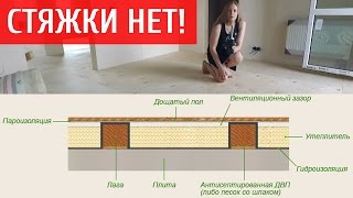 видео Устройство пола в деревянном доме