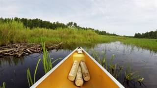 Solo Canoeing the Stub Lake Outlet Stream 2016 4K UHD