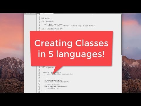 Creating Classes in 5 Languages: Python, Java, JavaScript, PHP and C#