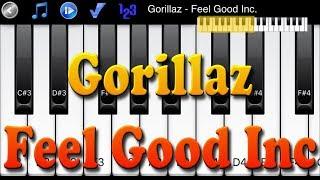 Gorillaz - Feel Good Inc - How to Play Piano Melody