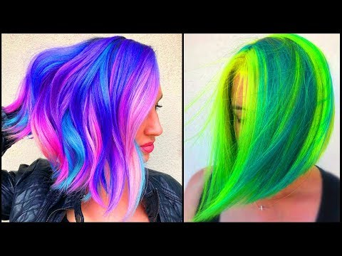 Best Short Hair Color Transformation Tutorials. Colorful Hair Compilations