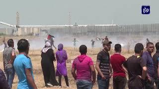 """إصابات خلال """"جمعة وادي الحمص"""" في غزة (2/8/2019)"""