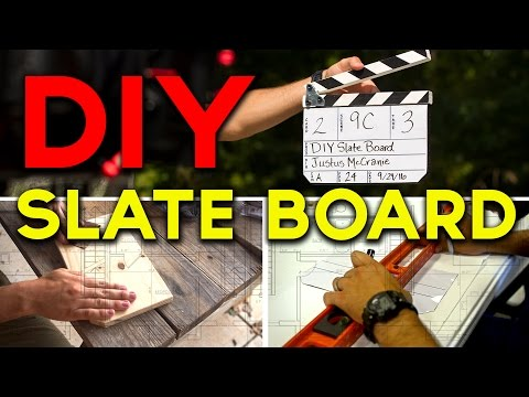 DIY Slate Board - Tomorrow's Filmmakers