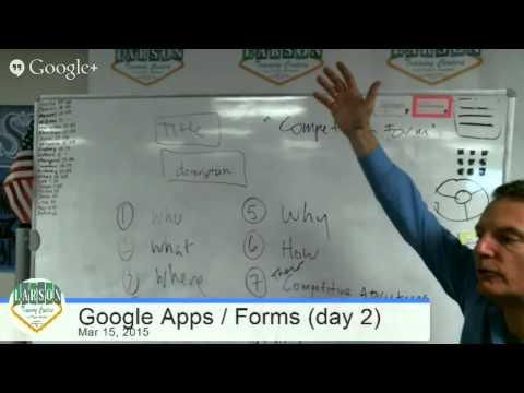 Larson Training Centers (Las Vegas) Google Apps / Forms (day 2)
