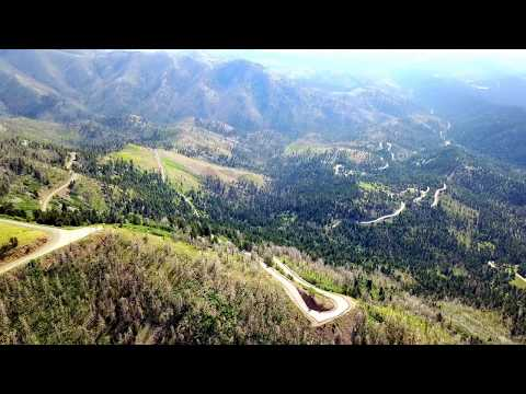 Sierra Blanca from the lookout: Ruidoso New Mexico drone flight