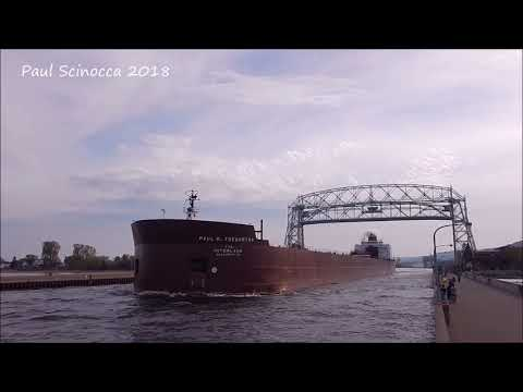World Record for longest salute ?  The Paul R Tregurtha departing