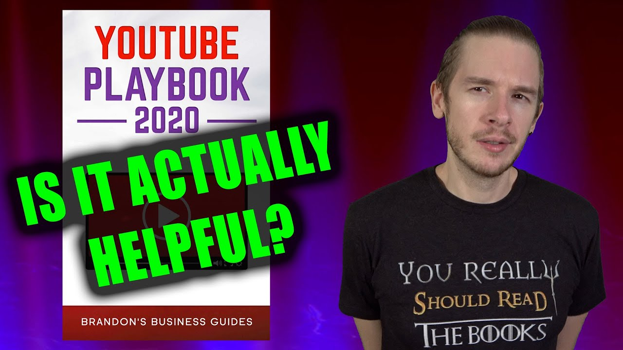 A Youtuber reviews a book about Becoming a Youtuber