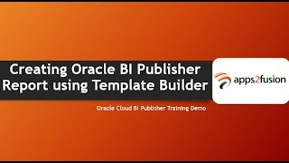 خلق Oracle BI Publisher تقرير باستخدام قالب باني
