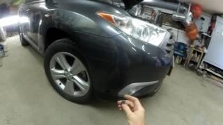 Как снять бамперы с Тойоты  Хайлендер 2013 г. в.