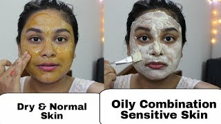 WINTER FACE PACKS FOR DRY OILY COMBINATION SENSITIVE SKIN | Beginner