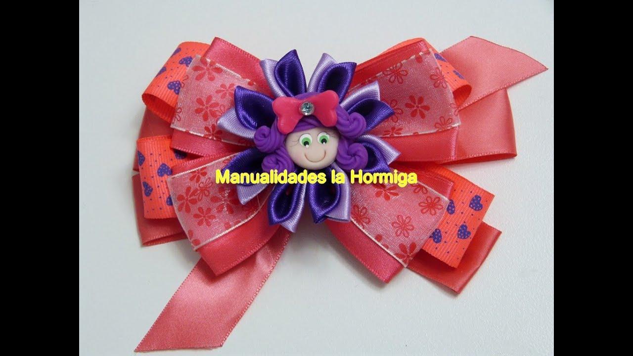 Como hacer mo os con liston ribbon bow youtube - Como hacer monos ...