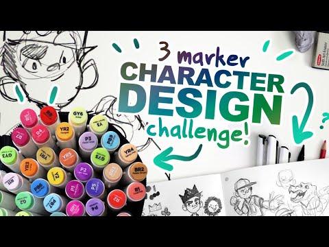 SEND HELP!?   3 Ohuhu Marker Character Design Challenge