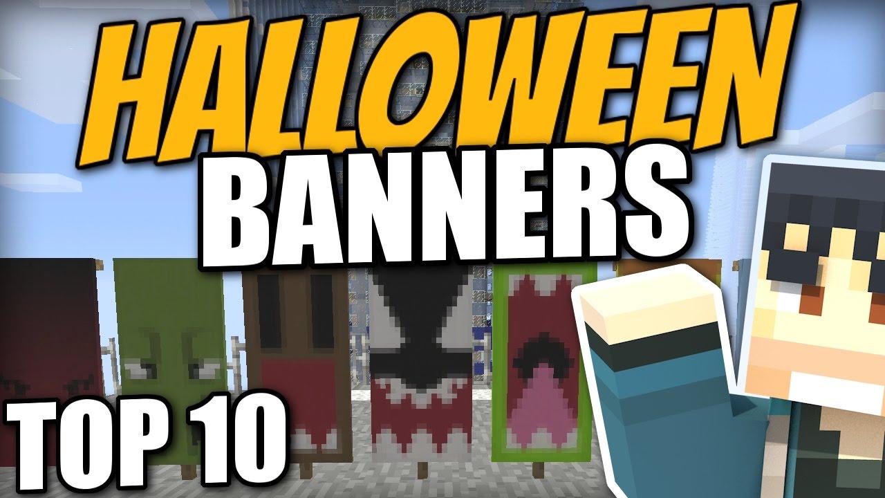 Minecraft PS4 - TOP 10 HALLOWEEN BANNERS - Tutorial ( PS3 / XBOX / WII U )