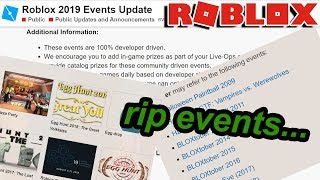 ROBLOX JUST CANCELLED EVENTS... warum