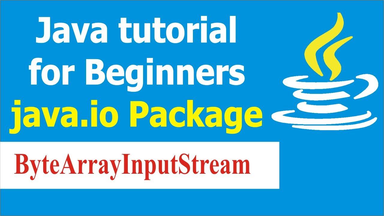 Java Programming Tutorials - Java Program to Read File Using  ByteArrayInputStream