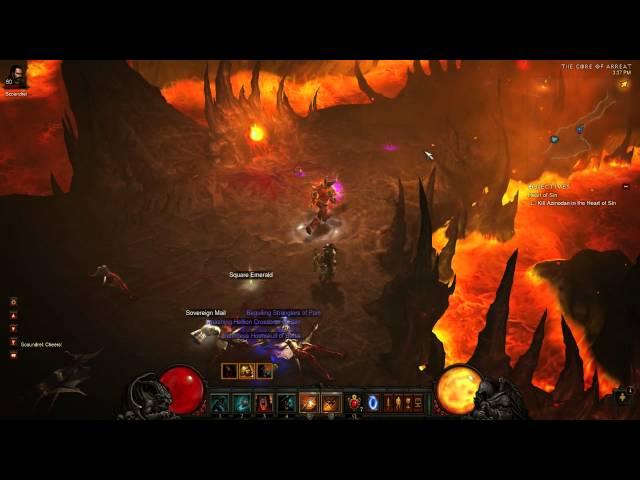 Diablo 3 Throw Barb - 5 Stack + Azmodan Speed Run - 125k DPS!