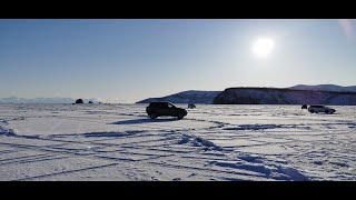 На авто по льду по бухте в Магадане Рыбалка на льду в Магадане