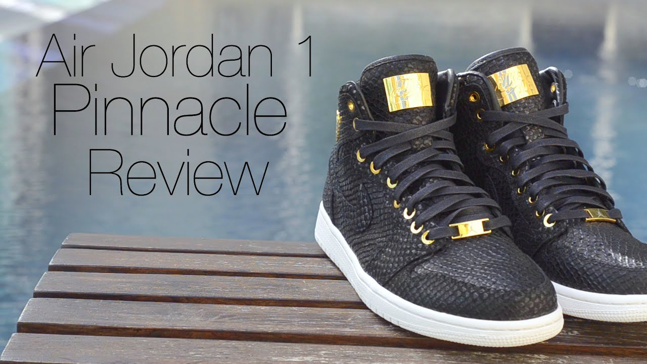 Nike Air Jordan 1 Pinnacle Black Review + On Feet - YouTube b350432283f9