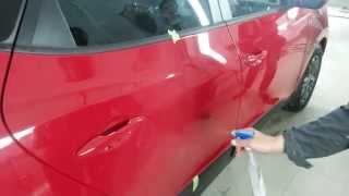 Защитное покрытие на кузов автомобиля(Правая сторона двери автомобиля обработана защитным покрытием