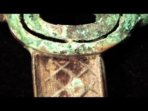 Chinese Antique Shang Dynasty Bronze Knife (1600 - 1046 BC), Anyang, Henan Province, China