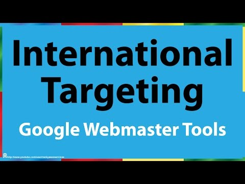 Google Webmaster Tools International Targeting