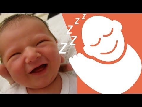 NEWBORN SMILING While SLEEPING - 1 Week Old Baby Girl