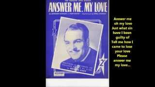 Reggie Goff - Answer Me, My Love (with lyrics)