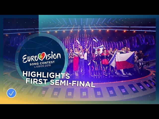 Highlights of the first Semi-Final of the 2018 Eurovision Song Contest