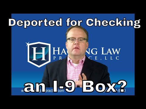 Can I get deported for checking US citizen box on I-9 when I'm not a citizen?