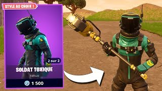 TOXIC SKIN ON FORTNITE BATTLE ROYALE!