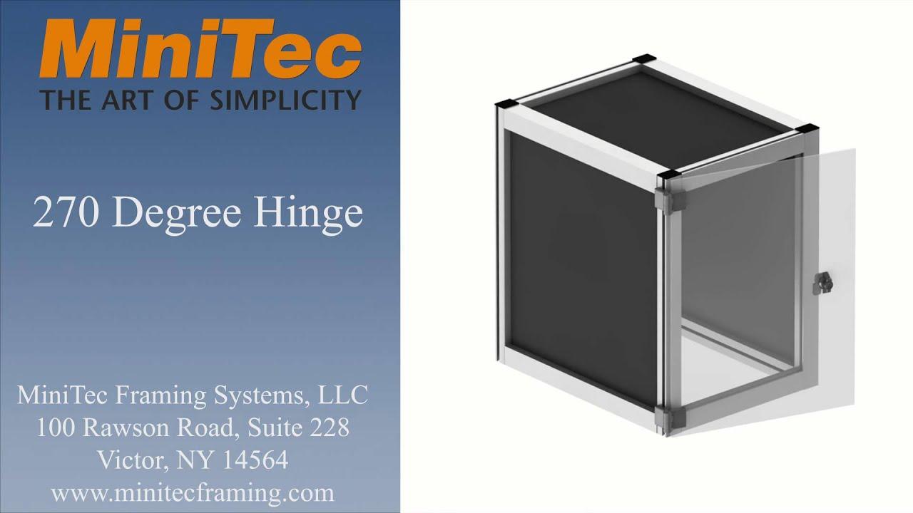 270 degree door hinge. minitec - 270 degree hinge door l