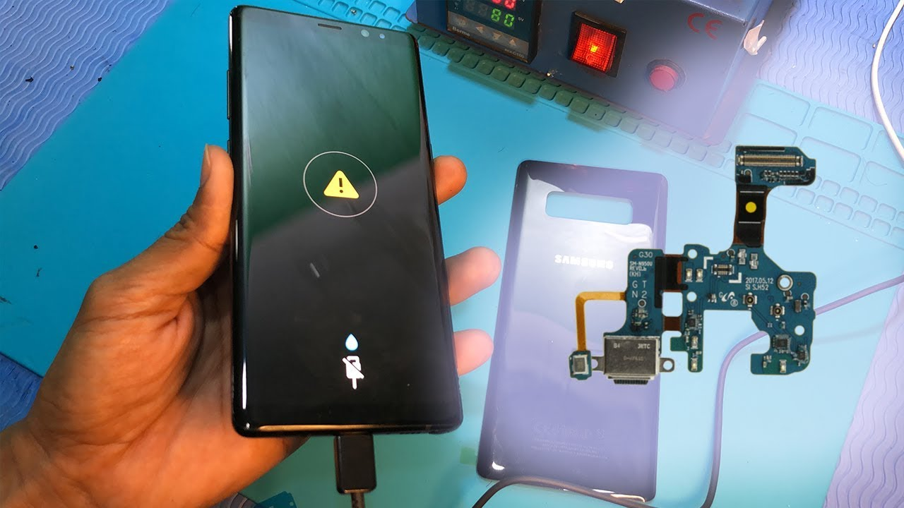 How to fix Samsung note 8 charging problem ⚠️ - YouTube