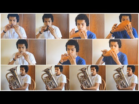 Gustav Holst - First Suite in E-flat - 1. Chaconne (on euphoniums and ocarinas)