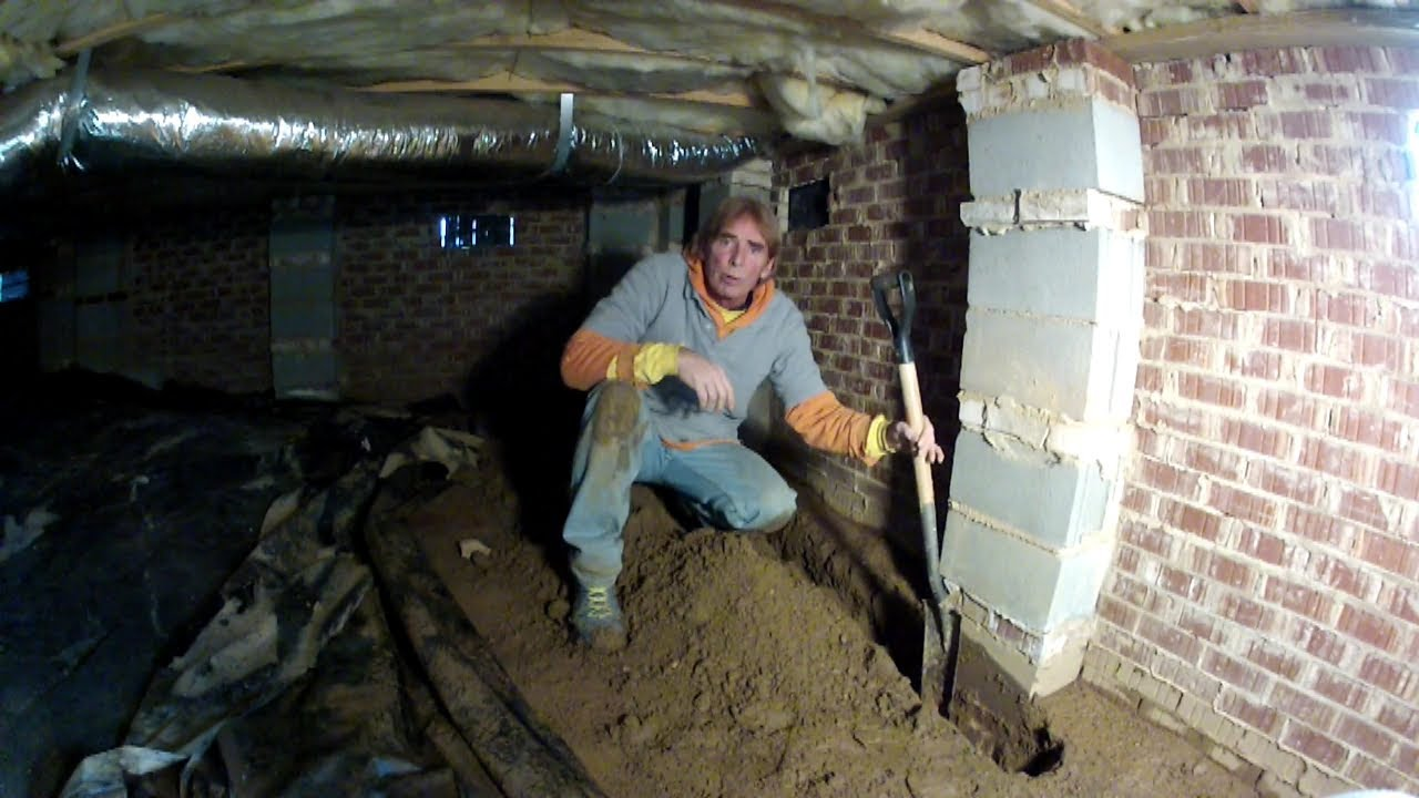 how to install footer tiles in crawl space interior crawl space waterproofing by apple drains