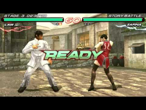 Tekken 6 Law Story Battle Law Vs Zafina Ps3 Psp Youtube