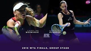 Caroline Wozniacki vs. Karolina Pliskova | 2018 WTA Finals Singapore | WTA Highlights