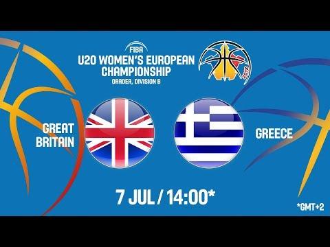 LIVE 🔴- Great Britain v Greece – FIBA U20 Women's European Championship Division B 2018