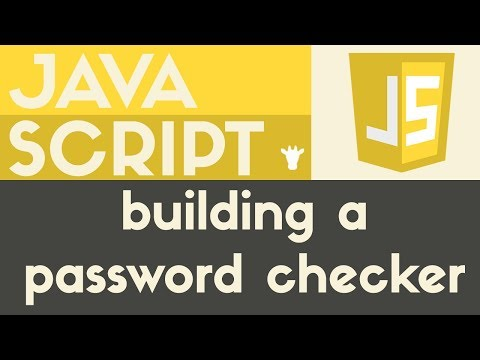 Building a Password Checker | Javascript | Tutorial 22 - YouTube