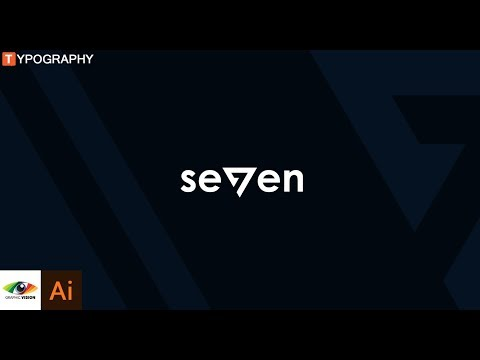 How to design seven text logo design using typography (tutorial) thumbnail